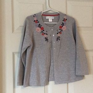 Garnet Hill kids embroidered sweater